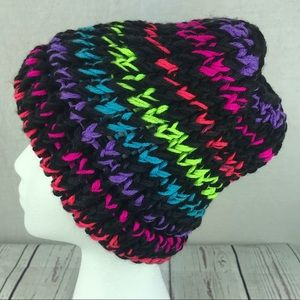 Accessories - Women's homemade Winter Knit Hat w/ Ponytail hole